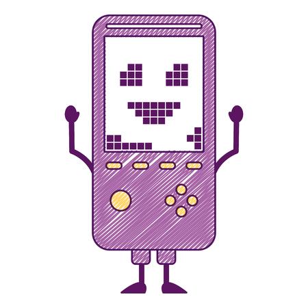ポータブルビデオゲームコンソールキャラクターベクトルイラスト