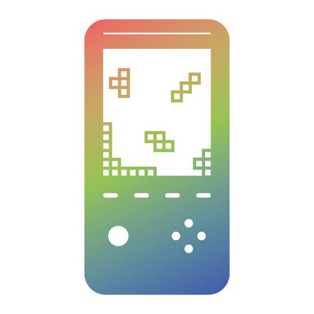 Retro portable video game console device vector illustration