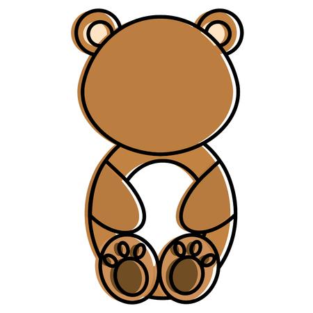 귀엽고 부드러운 곰 문자 벡터 일러스트 디자인 일러스트
