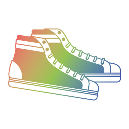vintage classic sneakers laced fashion retro vector illustration Illustration