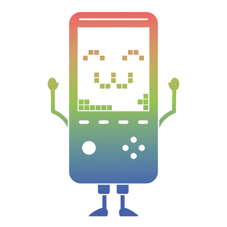 portable video game console  character vector illustration 向量圖像