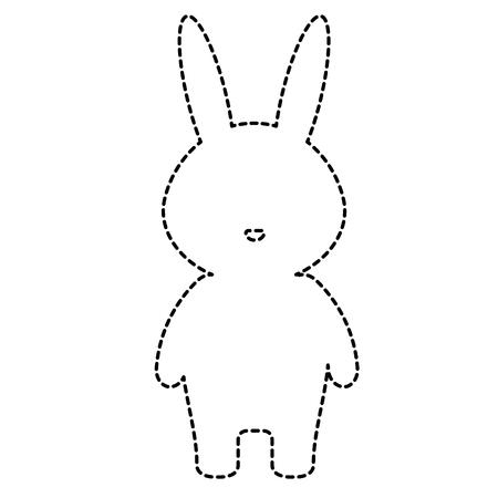 cute and tender rabbit character vector illustration design Illustration