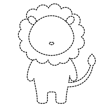 cute and tender lion character vector illustration design Иллюстрация