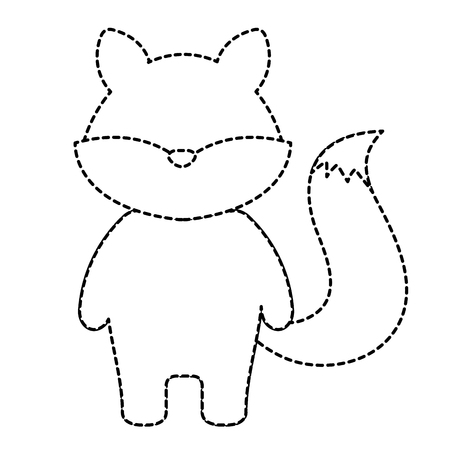 귀엽고 부드러운 여우 문자 벡터 일러스트 디자인