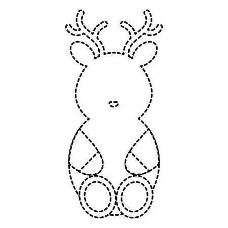 cute and tender reindeer character vector illustration design Illustration