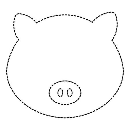 cute and tender pig head character vector illustration design Illustration