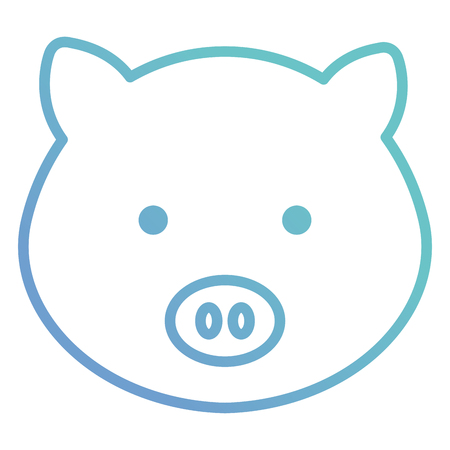 Cute and tender pig head character vector illustration design Иллюстрация