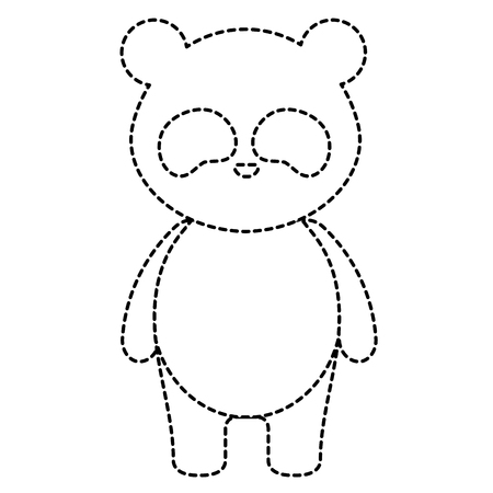 Cute and tender bear panda character vector illustration design Иллюстрация