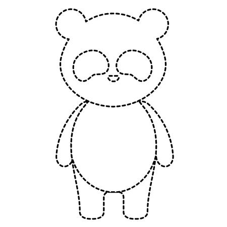 Cute and tender bear panda character vector illustration design Illustration