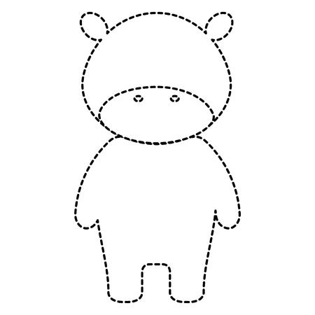 귀엽고 부드러운 하마 캐릭터 벡터 일러스트 레이션 디자인 일러스트