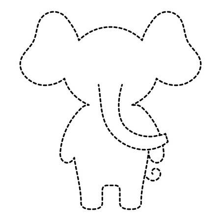 Cute and tender elephant character vector illustration design