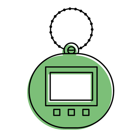 toy for children electronic pet tamagotchi retro vector illustration