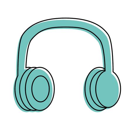 Ilustração em vetor música vintage fones de ouvido estéreo velho Foto de archivo - 94524453