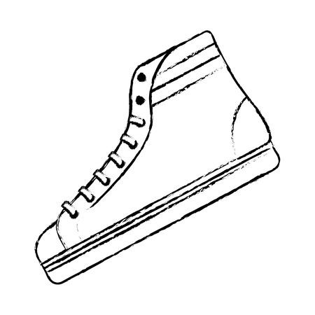 classic sneaker boot vintage sport vector illustration Illustration