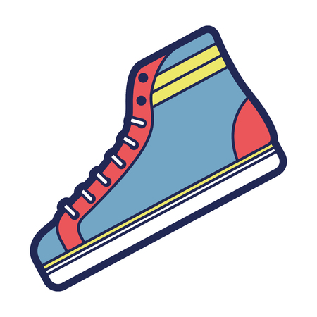 classic sneaker boot vintage sport vector illustration Vectores