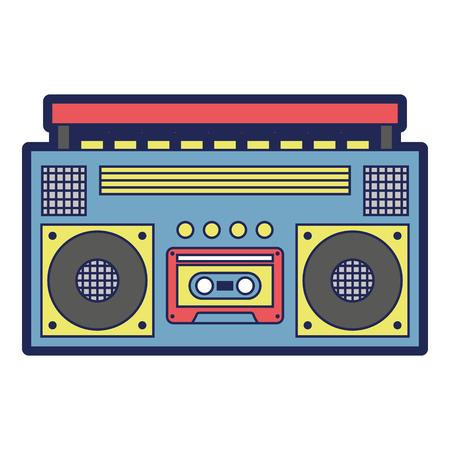 retro stereo cassettespeler muziek recorder vector illustratie