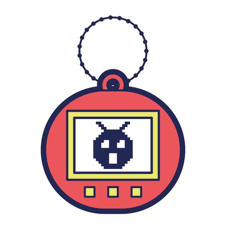 jogo de tamagotchi com pixel animal pet simulador ilustração vetorial