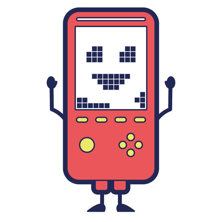 portable video game console character vector illustration Ilustração