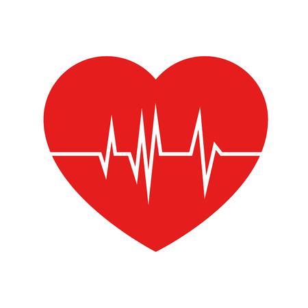 serce cardio na białym tle ikona wektor ilustracja projekt Ilustracje wektorowe