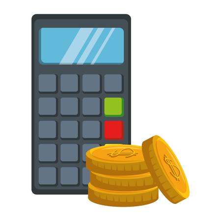 Voucher machine with coins. Vector illustration design. Ilustracja