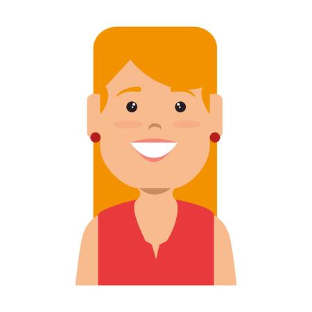 woman female avatar character vector illustration design