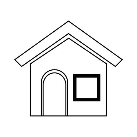 家の家孤立したアイコンベクトルイラストデザイン