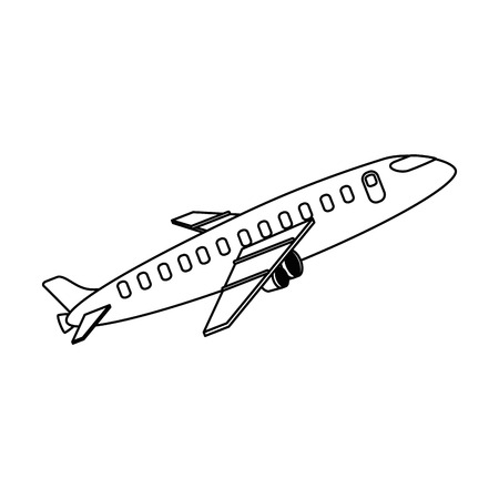 Airplane taking off icon. Vector illustration design.