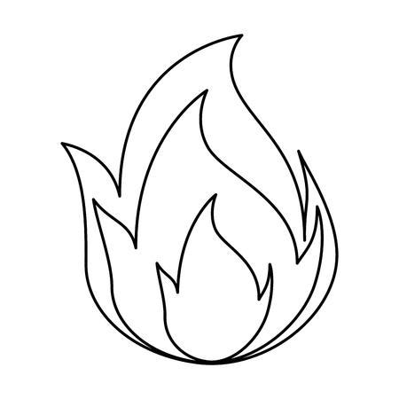 炎の炎分離アイコンベクトルイラストデザイン