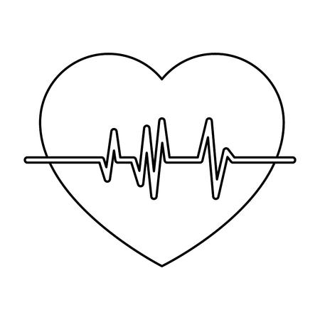 Heart cardio isolated icon. Vector illustration design.