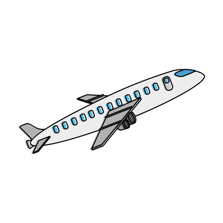 airplane taking off icon vector illustration design Banco de Imagens - 94436197