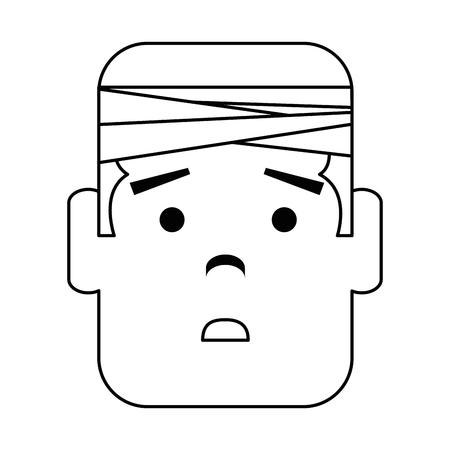 man with bandage head character vector illustration design Иллюстрация