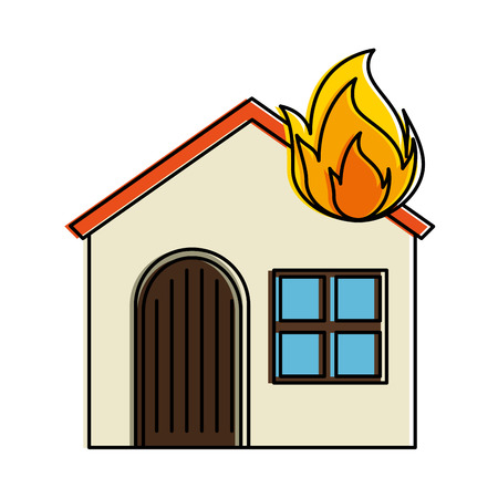 house with fire flame vector illustration design Stock Vector - 94435169