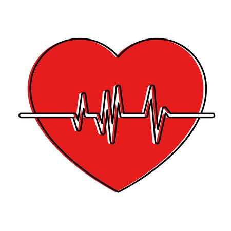 Coeur cardio isolé icône vector illustration design Banque d'images - 94434897