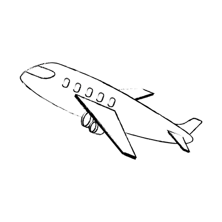 airplane taking off icon vector illustration design