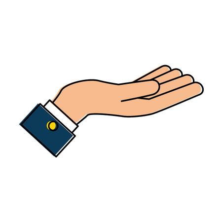 Main demandant isolé icône vector illustration design. Banque d'images - 94494480