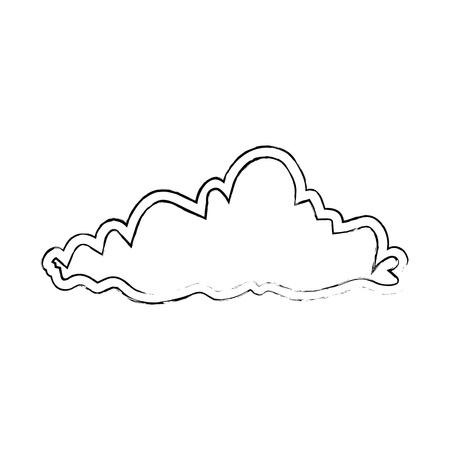Weather cloud isolated icon. Vector illustration design. Illustration