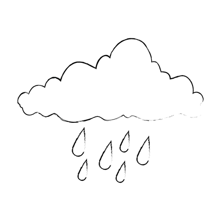 Weather cloud rainy icon. Vector illustration design.