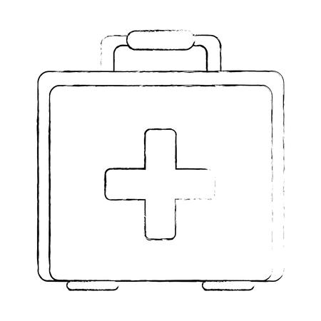 Medical kit isolated icon. Vector illustration design. Ilustracja