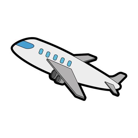 아이콘 벡터 일러스트 디자인을 이륙하는 비행기