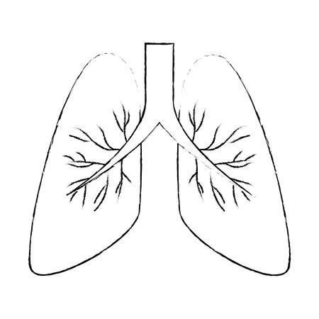 肺癌単離アイコンベクトルイラストデザイン  イラスト・ベクター素材