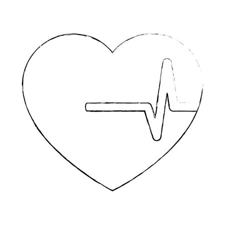 Coeur cardio isolé icône vector illustration design Banque d'images - 94437801