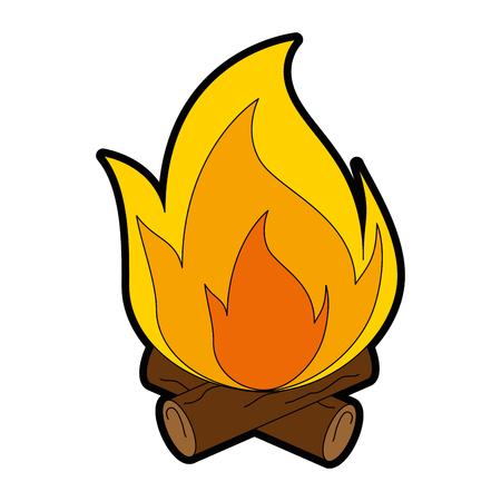 炎の孤立したアイコンベクトルイラストデザイン。