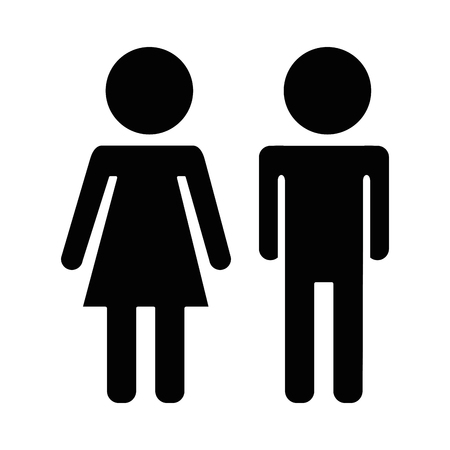 couple silhouette isolated icon vector illustration design