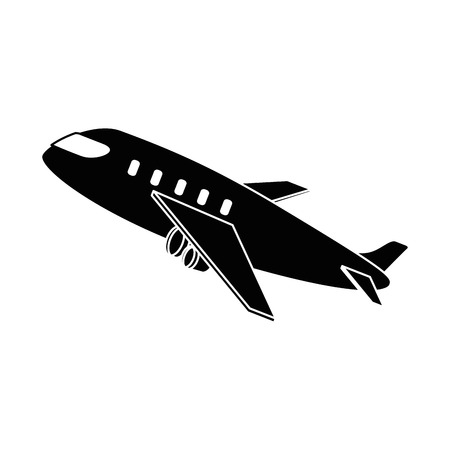 airplane taking off icon vector illustration design Stock fotó - 94440423
