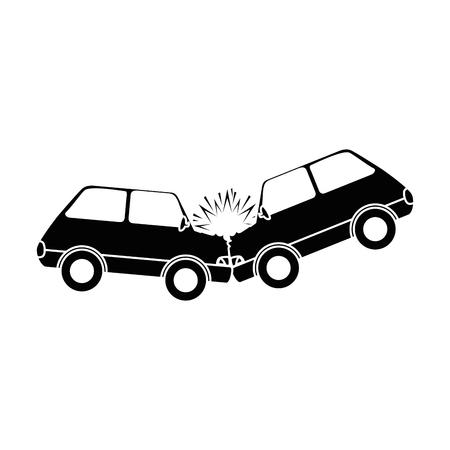 ikona wypadku samochodowego wypadek wektor ilustracja projekt