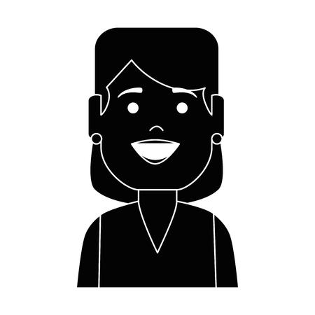 Woman female avatar character vector illustration design.