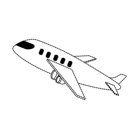 airplane taking off icon vector illustration design Stock fotó - 94439647