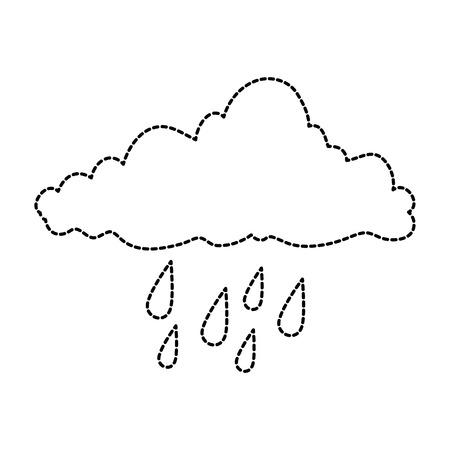weather cloud rainy icon vector illustration design Иллюстрация