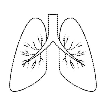 ヒト肺単離アイコンベクトルイラストデザイン