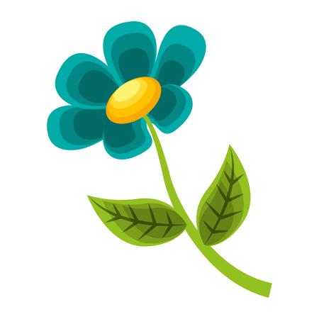flower stem petal leaves natural spring image vector illustration Illusztráció